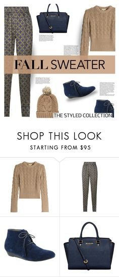 """""""Cozy Fall Sweaters"""" by flytotheworld ❤ liked on Polyvore featuring Michael Kors, Sandro, Array, Chicnova Fashion and vintage"""