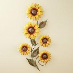Dimensional Sunflowers Wall Art