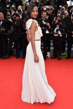 Cannes 2014: Zoe Saldana in Victoria Beckham and Christian Louboutin shoes Elegant