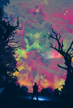 I like the way that this sky scene is very unrealistic and the colours have a psychedelic theme