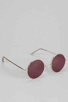 Classic Purple Lens Round Sunglasses