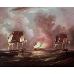 BonneHomme Richard vs The Serapis Thomas Butterworth Canvas Art - Thomas Butterworth x Art Thomas, Butterworth, 18th, Canvas Art, Walmart, Painting, Color, Ships, Products