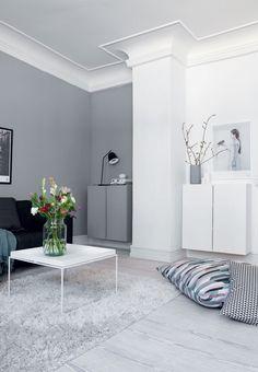 Integrer opbevaringen i stuens indretning
