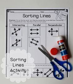 Types of Lines Sorting Activity - intersecting, parallel, and perpendicular - Lots of great geometry lessons here. Math Help, Fun Math, Math Lesson Plans, Math Lessons, Student Teaching, Teaching Ideas, Transformation Geometry, Math Sites, Mastering Math