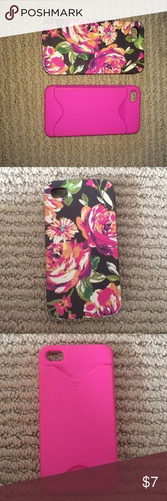 iPhone 4/4s cases One is from Vera Bradley both for $7 Vera Bradley Accessories Phone Cases