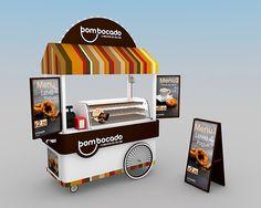 Good Mouth // Nata& Cart- Bom Bocado // Nata's Cart Good Mouth // Cream& Cart on Behance - Cafe Shop Design, Kiosk Design, Retail Store Design, Booth Design, Food Stall Design, Food Cart Design, Food Cart Business, Vendor Cart, Mobile Food Cart