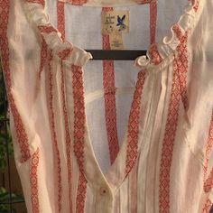 Edme & Esyllte Tunic New! 100% Soft cotton red and white summer tunic. Edme & Esyllte  Tops Tunics