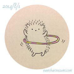 Hooping Hedgie by Namiharinezumi Hedgehog Drawing, Hedgehog Art, Cute Hedgehog, Hedgehog Illustration, Cute Illustration, Dibujos Cute, Cute Doodles, Easy Drawings, Doodle Art