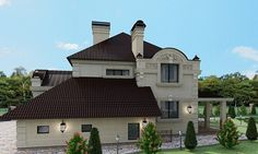 фасад - миниатюра 9 Mansions, House Styles, Projects, Villa, Home Decor, Mansion Houses, Log Projects, Homemade Home Decor, Manor Houses