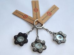Recycled Bicycle Chain & Washer Keyring Free by RecycleAndBicycle