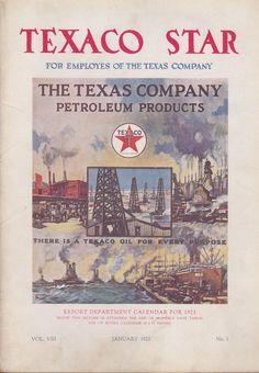 TEXACO STAR MAGAZINE FOR EMPLOYESS OF JANUARY 1921