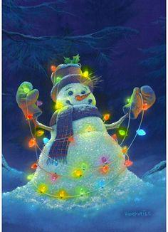 Toland Home Garden Glowman Snowman Garden flag Christmas House Lights, Christmas Mantels, Christmas Scenes, Silver Christmas, Christmas Images, Diy Christmas Ornaments, Christmas Snowman, Vintage Christmas, Christmas Time