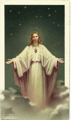Sacred Heart of Jesus, printed in Italy