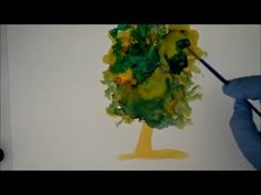 Learn to Paint with Alcohol Ink Brush Work on Yupo Paper Lilac Demo Painting Online Art Course - YouTube