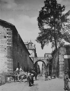 Via Giulia e l'arco dei Farnese Anno: fine 800