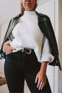 Shop Your Screenshots™ with LIKEtoKNOW.it, a shopping discovery app that allows you to instantly shop your favorite influencer pics across social media and the mobile web. Black Biker Boots, Cream Jumper, Grey Scarf, Daily Look, Simple Outfits, Asos, Topshop, Turtle Neck, Europe