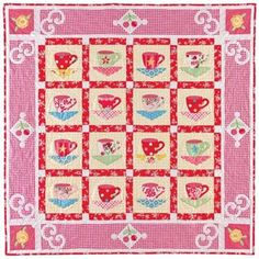 Coffee With Friends, applique quilt pattern by Elizabeth Scott of Late Bloomer Quilts. $10.00, via Etsy.