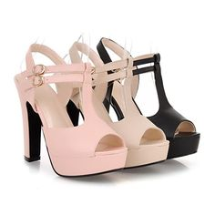 Heels: approx 12 cmPlatform: approx 3 cmColor: Black, Beige, PinkSize: US 3, 4, 5, 6, 7, 8, 9, 10, 11, 12(All Measurement In Cm And Please Note 1cm=0.39inch) No