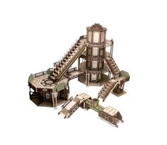 My friend and I went necromunda crazy recently and designed some cool laser cut terrain - Forum - DakkaDakka | Wargamers do it on the tabletop.