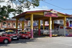 """Kuala Besut city, bus station with taxi in the city center, Terengganu Malaysia, Asia. #photo #getty #gettyimages #images """"picture #travel #traveling #www.vincet-jary.fr #photograph #traveler"""
