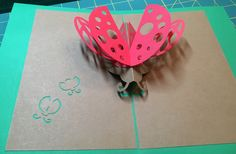 Lady Bug  pop-up card (template from Cahier de Kirigami 18)