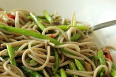 Asparagus And Anchovies With Soba Noodles » The Candida Diet