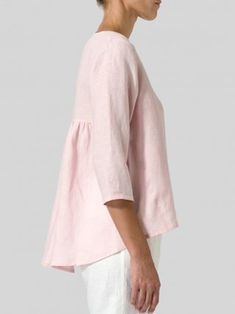 Tunic Blouse, Shirt Blouses, Tunic Tops, Sewing Clothes, Diy Clothes, Casual Clothes, Casual Outfits, Mode Cool, Loose Tops