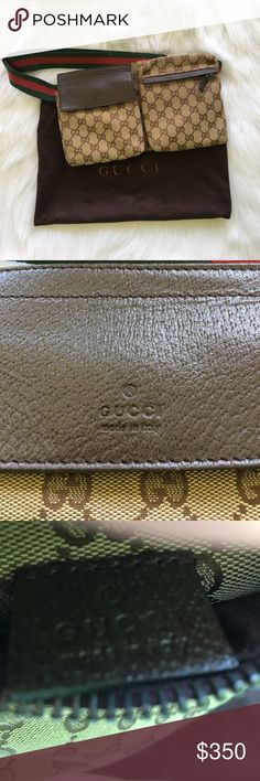 Authentic Gucci Fanny Pack Gently used - like New - not sure where the code is if anyone knows XO Thnx - adjustable waist band no wear or tear Gucci Bags