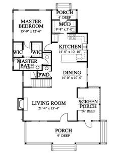 Broad River Cottage House Plan Design from Allison Ramsey Architects Cottage Floor Plans, Cottage House Plans, Small House Plans, Cabin Ideas, House Ideas, Highway 1, River Cottage, Silver City, Good House