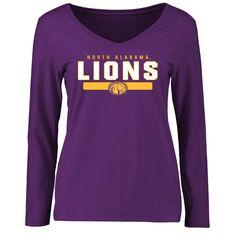 North Alabama Lions Women's Team Strong Long Sleeve Slim Fit T-Shirt - Purple - $37.99