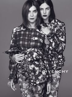 Carine Roitfeld and Julia Restoin Roitfeld for Givenchy Fall 2013.  Photographed by Mert Alas and Marcus Piggot.