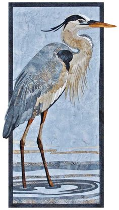 Great Blue Heron Wall Quilt Kit