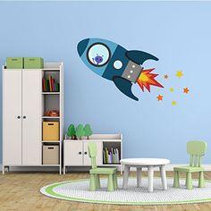 Fliegende Rakete Wandtattoo von Stickerscape - Wandaufkle…