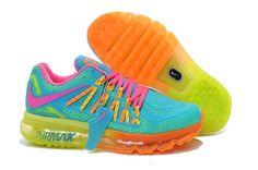 Cheap Nike Air Max 2015 Womens Orange Pink Blue