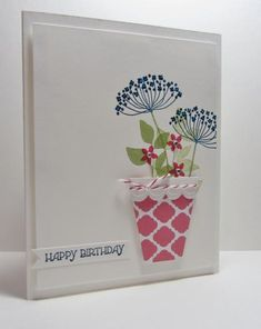 CC443 Summer Flower Pot by nancy littrell - Cards and Paper Crafts at Splitcoaststampers