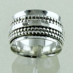 Traditional Indian Style Designer Spinning Ring_Hand Made 925 Sterling Siver #SilvexImagesIndiaPvtLtd #Cluster