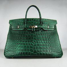 Hermes Birkin 40 Crocodile skin Gold Hardware (Vert)