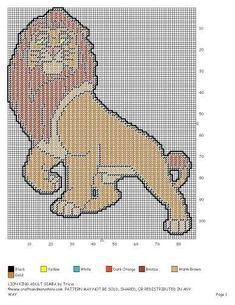 Lion King Adult Simba 2/2 Plastic Canvas