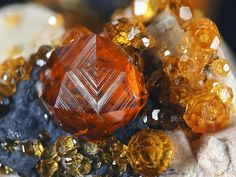 Different Colors of Spessartine Garnet