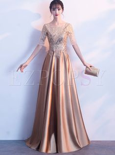 Feast women sexy long sequins boat neck evening gowns celebrity dresses for Dance Dresses, Prom Dresses, Formal Dresses, Wedding Dresses, Girls Dresses, Hijab Prom Dress, Evening Dresses With Sleeves, Sleeve Dresses, Designer Evening Dresses