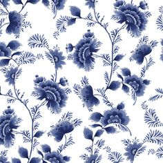 Blossom Blue Summer Flower by Pande yuda agung Seamless Repeat  Exclusive Pattern