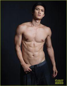 Actor (Glee) Harry Shum Jr. posing for Da Man magazine.
