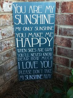 You+Are+My+Sunshine+Subway+Sign++Hand+by+ExpressionsWallArt,+$39.00