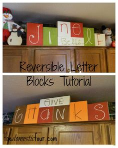 The Domestic Four: Reversible Letter Blocks Tutorial