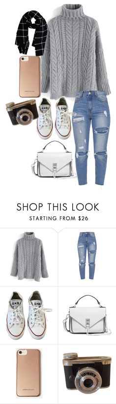 """""""Turtleneck"""" by heidibartholdy ❤ liked on Polyvore featuring Chicwish, Converse, Rebecca Minkoff, Karen Millen and Warehouse"""
