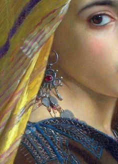Girl with a Pomegranate,1875 (detail) by William-Adolphe Bouguereau.