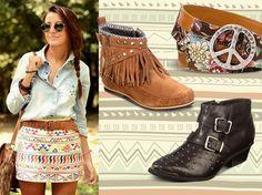 estilo folk , infaltable este no es el ejemplo pero los shores de jeans en el invierno !