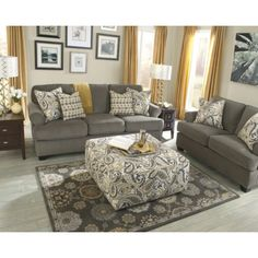 Living room and main floor design inspiration turquoise - Grey and yellow living room curtains ...