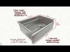 Custom ADA Farm Sink Farm Sink, Stainless Steel Sinks, Kitchen Sink, Custom Design, Youtube, Ideas, Farm House Sink, Stainless Steel Kitchen Sinks, Thoughts