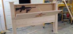 Hidden Gun Cabinet Diy Hidden Gun Storage Pinterest